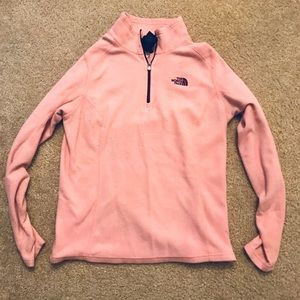 North Face Pink Half-Zip Pullover